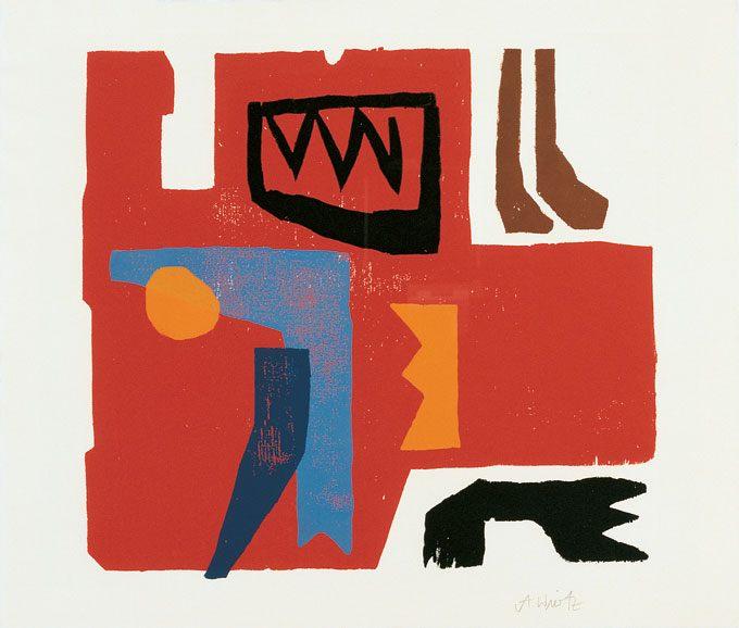 Holzschnitt 1971, ohne Auflage, Papierformat: 53 x 63 cm