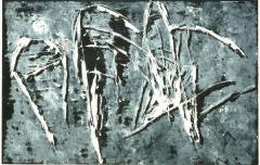 Holzschnittunikat 1992, 55 x 85 cm