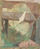 Holzschnittübermalung 1993, 80 x 65 cm