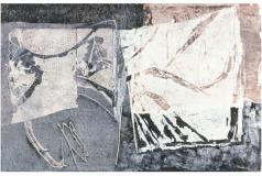 Holzschnittunikat / Collage 1997, 55 x 85 cm