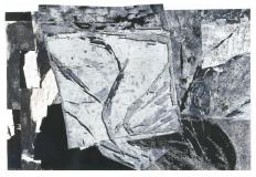 Holzschnittunikat / Collage 1998, 55 x 85 cm