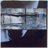 Holzschnitt / Collage auf Röntgenbild 1999, 35 x 35 cm