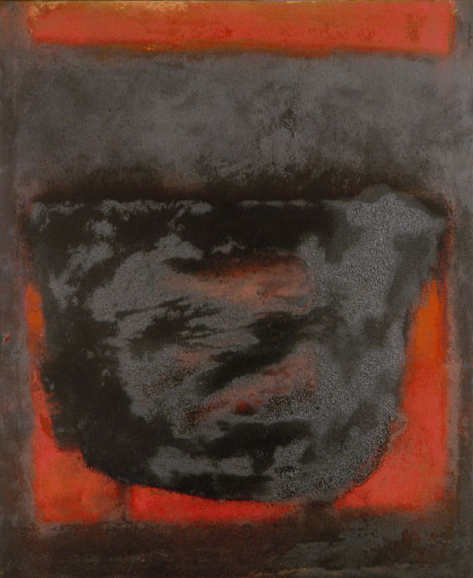 Ohne Titel Pigment auf Leinwand 1990 100 X 90 cm
